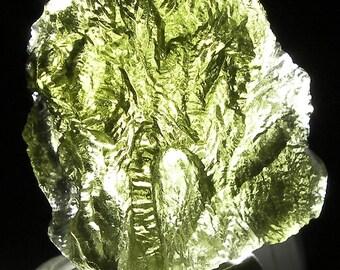 "Moldavite ""Raw"" Piece 10.35gram Mueseum grade from Czechoslovakia"