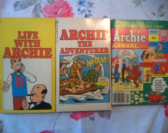Archie Vintage Comic Books (three books) (Free Shipping!)