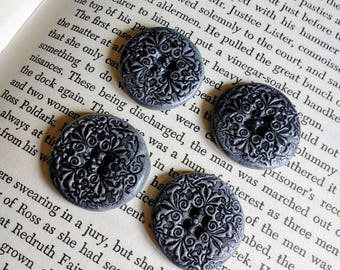 4 Gorgeous Handmade Patterned Buttons.