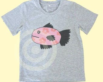 Fish tshirt Animal tshirt -Graphic Kids Tee - Kids tshirts -Toddler tees -Toddler shirts - Cute Toddler Tees