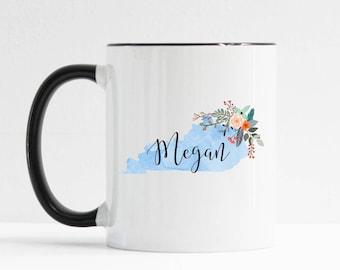 Kentucky Mug / Personalized Mug / Custom State Mug / Friend Gift / Kentucky Gift /  11 or 15 oz / Going Away Gift / Moving Gift