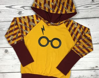 Gryffindor grow with me hoodie,size 3-6 years,Harry Potter hoodie,girls hoodie,boys hoodie,baby clothes,hoodies for girls,toddler hoodie