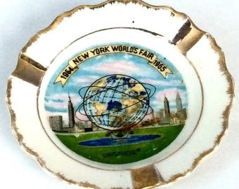 Vintage 1964 Worlds Fair Ashtray