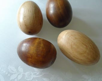 wooden eggs x 4 different woods