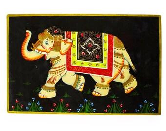 Royal Elephant Oriental Wooden Jewelry Box