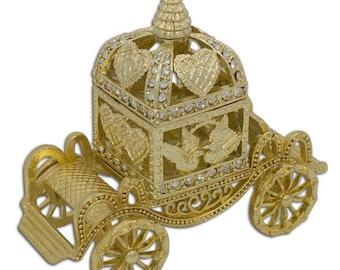 "3.25"" Faberge Royal Coronation Coach Jewelry Trinket Box"