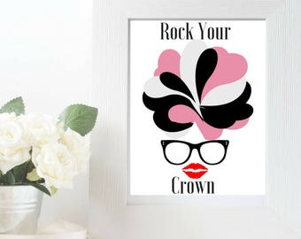 Rock Your Crown Fro Wall Art