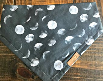"Dog Bandana ""The Eclipse"" Free Shipping! Snap options & personalization options"