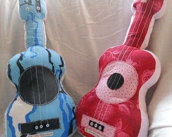 Guitar girl Kids fabric