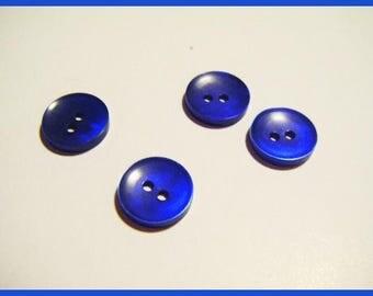 Set of 4 vintage buttons blue