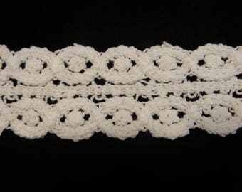 White Cotton Crochet Lace - Sold by the Yard