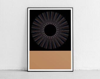 Circle 04. Wall art. Original poster. High quality giclée print. signed by designer.