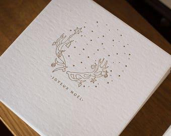 Letterpress Merry Christmas greeting card