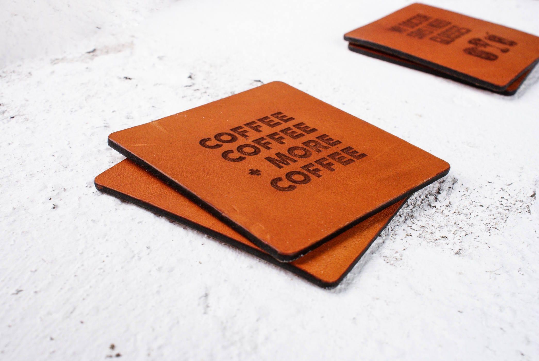 Leather Wedding Gift Anniversary Coasters3 Year Anniversaryalways