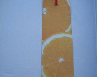 Bookmark paper orange fruit theme