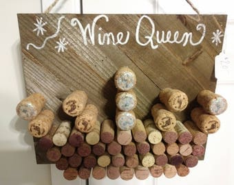 Wine Cork Queen's crown