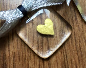 3 x fused glass valentine gift, fused glass heart, gift for her, girlfriend gift, valentine, Mother's Day gift, gift, heart, glass