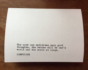 Confucius Greeting Card