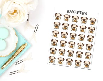 Pizza Pug Planner Stickers