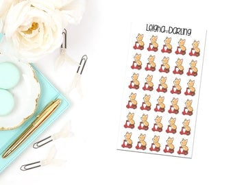 Scooter Corgi Planner Stickers