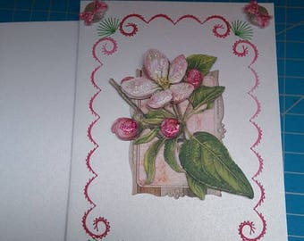 Embroidered greeting card and 3D 740