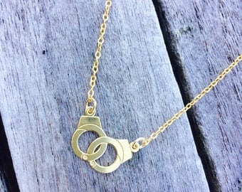 Pendant necklace gold promise - cuff - minimalist - one has offer - Miss vk - gold plated