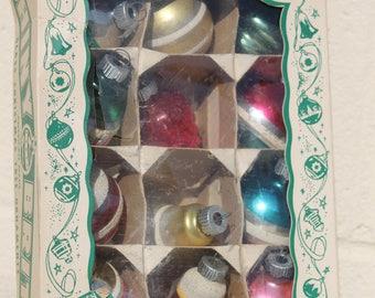 Vintage Shiny Brite Glass Christmas Tree Ornaments