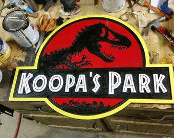 BIG Personalized Dino Park Sign