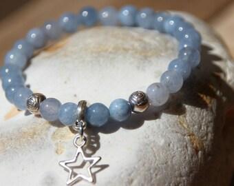 Bracelet Navy Pearl treble semi-precious