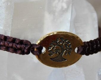 shamballa thread nylon 1 m and tree of life connector bracelet