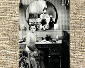 Myrna Loy photograph, vintage photo print, classic old Hollywood photograph, black and white print, boho wall decor
