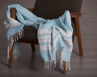 Linen throws, Linen blanket throw, Linen bed cover, Linen blanket, Linen coverlet, Bedspread linen, Linen comforter, summer blanket