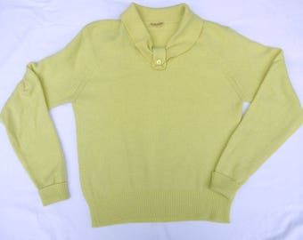 Vintage 1950s 1960s Lemon Cashmere Sweater