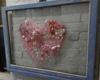 Mixed Media Heart Full Window