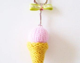Ice cream cone-shaped Keyring/bag charm