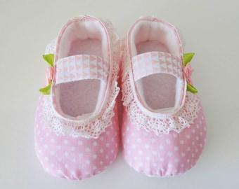 Handmade fabric baby Ballet pumps