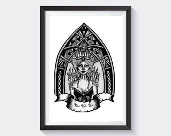 Veni Vidi Vici  -  Fine Art Print Iconography gothic Print