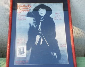 Mabel Normand, Silent film star poster or sheet music