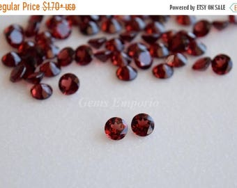 ON SALE Natural Red Garnet 6 MM, 5.5 Mm, 5 Mm Faceted Round / Fine Quality Garnet / January Birthstone / Priced by lot