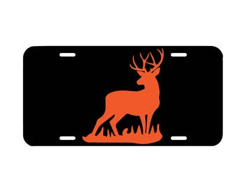 Deer license plate, hunting front car license plate, cute car tag, car accessory, vanity plate, country truck plate, hunting season car tag