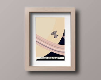 """Space Event Mini Poster Collectable """"Cassini's Legacy"""""""