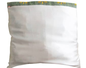 Pillow cover in satin and wax-stitched hand - 63 x 63 cm