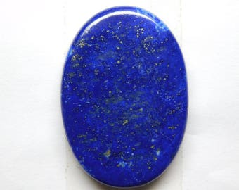 100% Natural Blue Lapis lazuli oval shape cabochone top quality gemstone 59.35cts 35x24x5mm