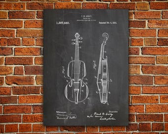 Violin Canvas painting, Violin Blueprint, Violin Printable, Music Room Poster, Violin Wall Decor, Violin Wall Art, Violin Art Gift