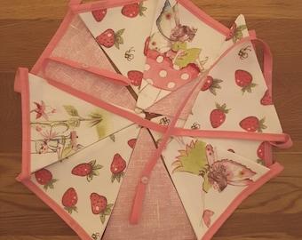Handmade Pink Fairy Bunting, Pink Bunting, Girls Room, Nursery decor, Playroom, Playhouse, Girls party, Fairy garland, Girls Birthday