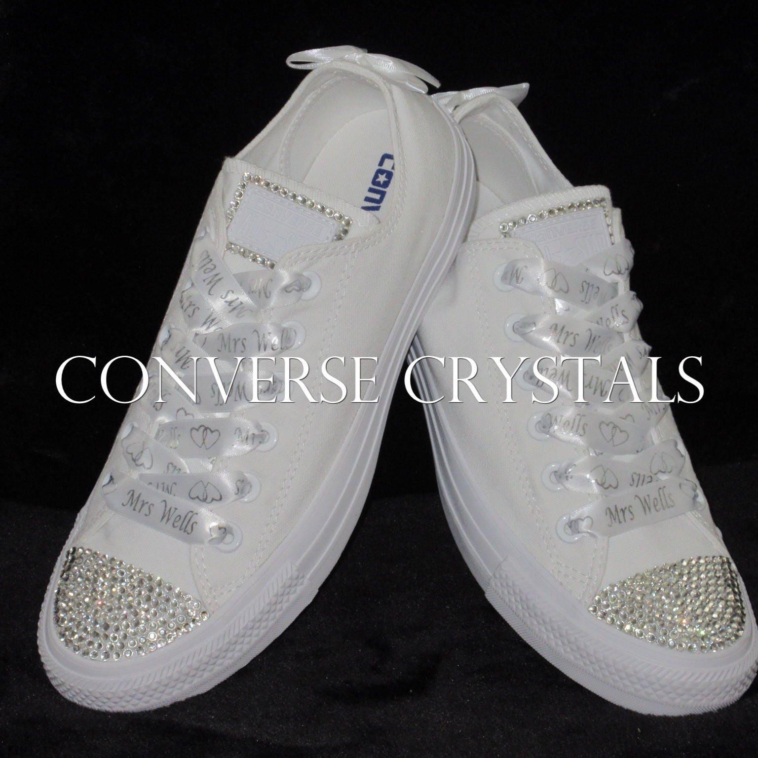 Bridal / Wedding Shoes - ConverseCrystals