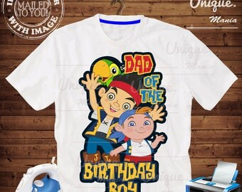 Dad of Birthday Boy Jake and the Nederland Pirates birthday Iron on transfer by mail and Digital Printable,Jake and the Nederland Pirates