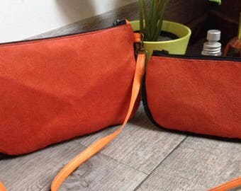 Duo: Suede purse, Moon and back small purses