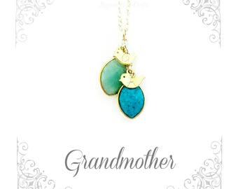 Custom Birthstone Necklace for Grandma | Grandmother, Nana | Family Tree | New Grandmother | Gemstone Necklace | Grandma Christmas gift