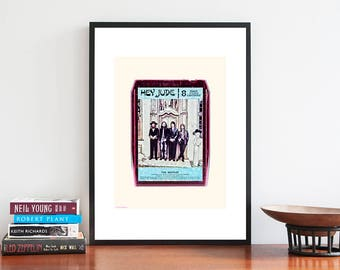 The Beatles | Music Poster | Album Art Print | IIIustration Art Print | Band Poster | Music Lover Gift | Vintage Retro Pop Art